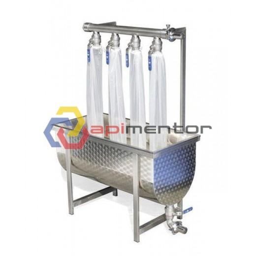 Bazin pentru filtrare miere cu 4 iesiri